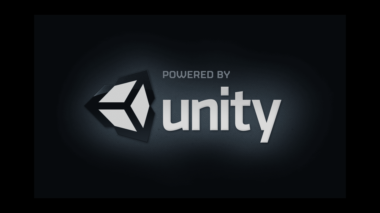 Pantalla inicial de Powered By Unity