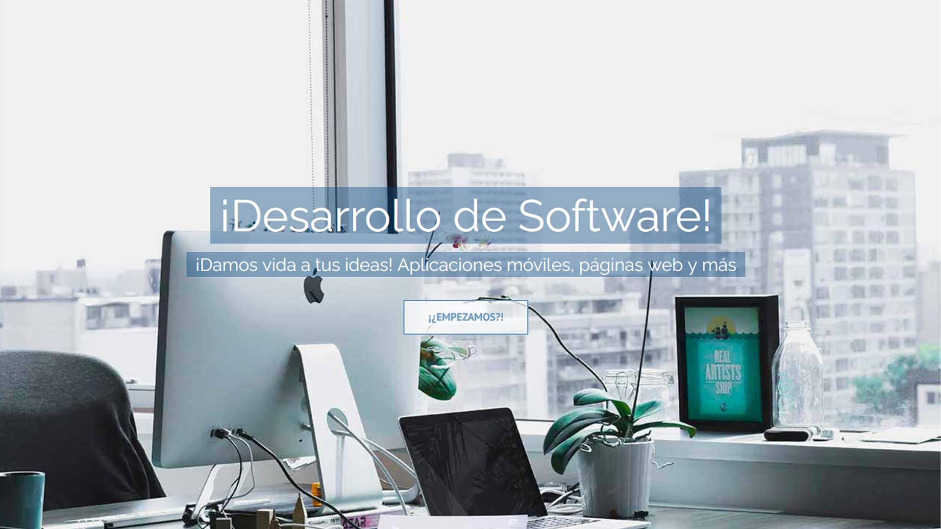 Desarrollo de software, aplicaciones móviles, páginas web y diseño gráfico.
