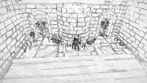 Family HHeroeSS primer boceto de la ciudad de los Orcos