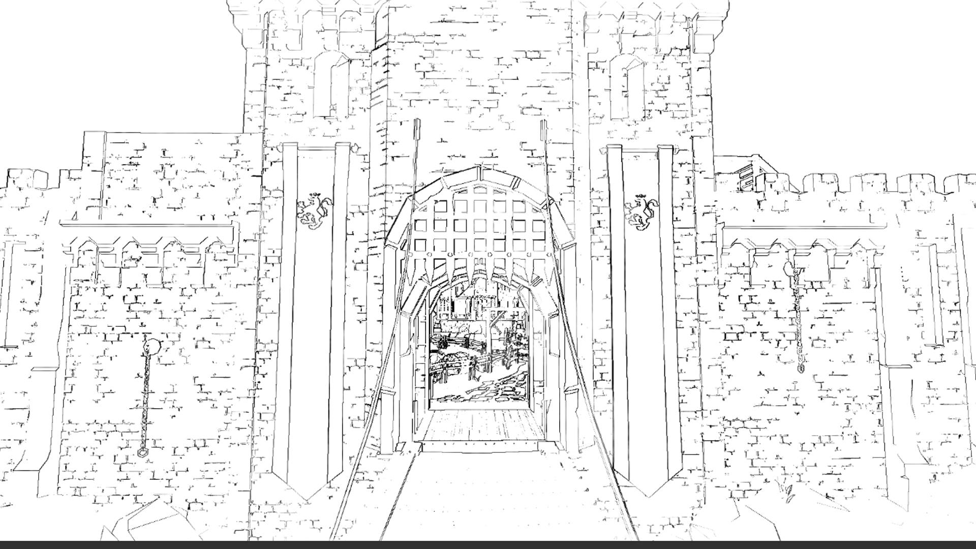 Family HHeroeSS primer boceto de la ciudad de los Humanos